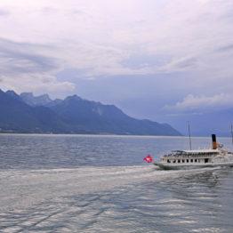 lac léman nuages